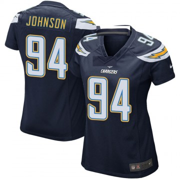 Women's Nike Los Angeles Chargers PJ Johnson Navy Team Color Jersey - Game