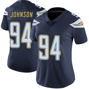 Women's Nike Los Angeles Chargers PJ Johnson Navy Team Color Vapor Untouchable Jersey - Limited