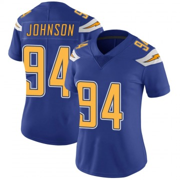 Women's Nike Los Angeles Chargers PJ Johnson Royal Color Rush Vapor Untouchable Jersey - Limited