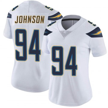 Women's Nike Los Angeles Chargers PJ Johnson White Vapor Untouchable Jersey - Limited