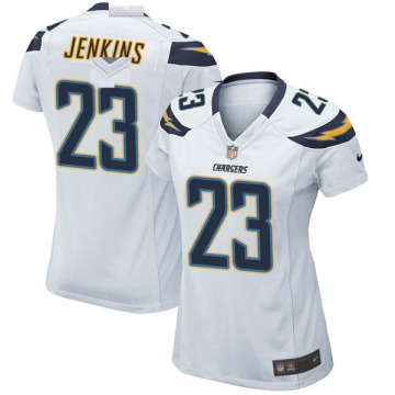 Women's Nike Los Angeles Chargers Rayshawn Jenkins White Jersey - Game