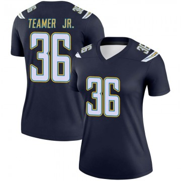 Women's Nike Los Angeles Chargers Roderic Teamer Jr. Navy Jersey - Legend