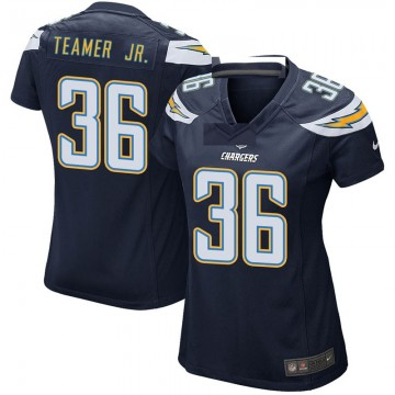 Women's Nike Los Angeles Chargers Roderic Teamer Jr. Navy Team Color Jersey - Game