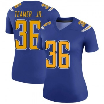 Women's Nike Los Angeles Chargers Roderic Teamer Jr. Royal Color Rush Jersey - Legend
