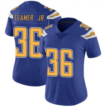 Women's Nike Los Angeles Chargers Roderic Teamer Jr. Royal Color Rush Vapor Untouchable Jersey - Limited