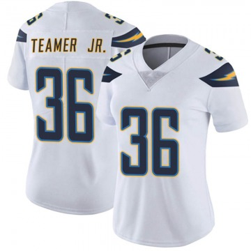 Women's Nike Los Angeles Chargers Roderic Teamer Jr. White Vapor Untouchable Jersey - Limited