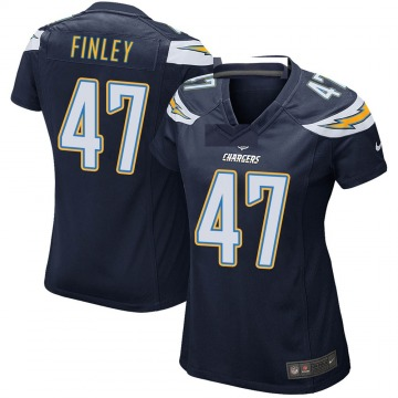 Women's Nike Los Angeles Chargers Romeo Finley Navy Team Color Jersey - Game