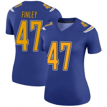 Women's Nike Los Angeles Chargers Romeo Finley Royal Color Rush Jersey - Legend