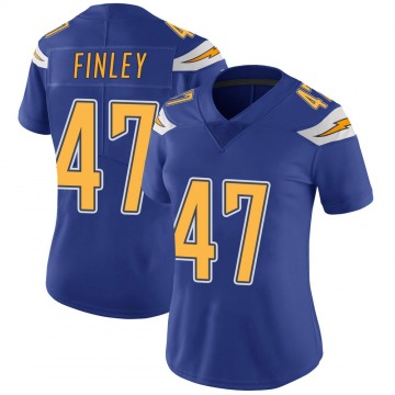 Women's Nike Los Angeles Chargers Romeo Finley Royal Color Rush Vapor Untouchable Jersey - Limited