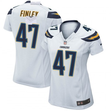 Women's Nike Los Angeles Chargers Romeo Finley White Jersey - Game