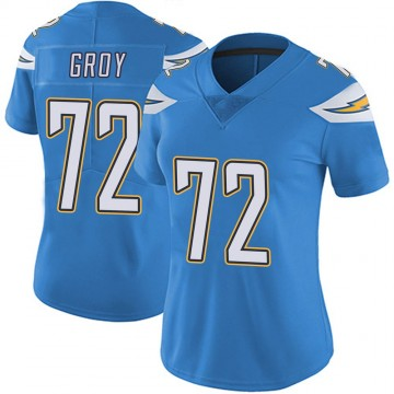 Women's Nike Los Angeles Chargers Ryan Groy Blue Powder Vapor Untouchable Alternate Jersey - Limited