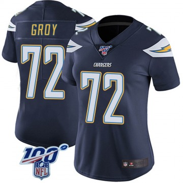 Women's Nike Los Angeles Chargers Ryan Groy Navy 100th Vapor Jersey - Limited