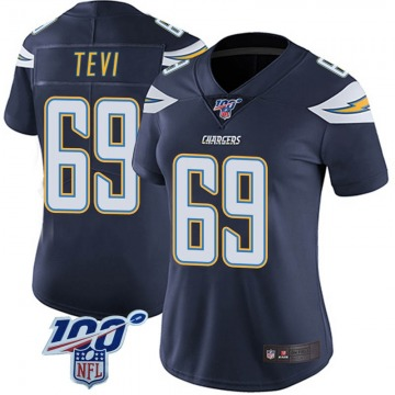 Women's Nike Los Angeles Chargers Sam Tevi Navy 100th Vapor Jersey - Limited
