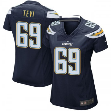 Women's Nike Los Angeles Chargers Sam Tevi Navy Team Color Jersey - Game