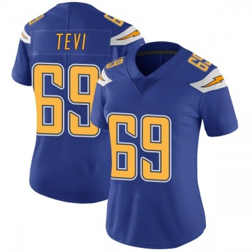 Women's Nike Los Angeles Chargers Sam Tevi Royal Color Rush Vapor Untouchable Jersey - Limited