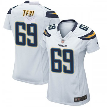 Women's Nike Los Angeles Chargers Sam Tevi White Jersey - Game