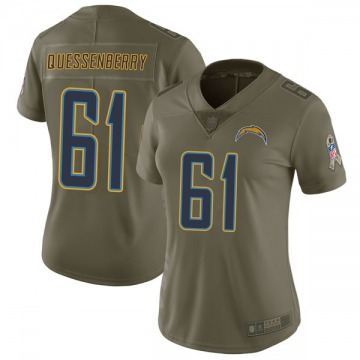 Women's Nike Los Angeles Chargers Scott Quessenberry Green 2017 Salute to Service Jersey - Limited