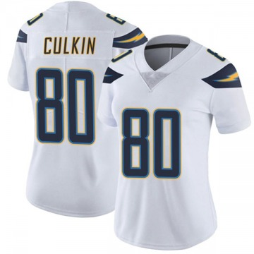 Women's Nike Los Angeles Chargers Sean Culkin White Vapor Untouchable Jersey - Limited