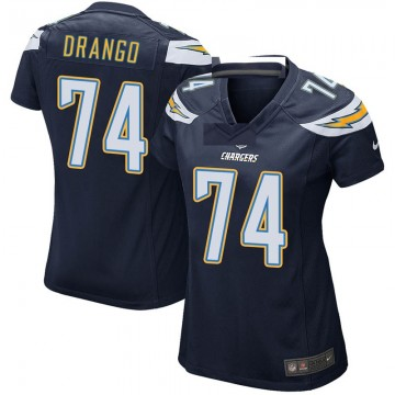 Women's Nike Los Angeles Chargers Spencer Drango Navy Team Color Jersey - Game