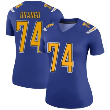 Women's Nike Los Angeles Chargers Spencer Drango Royal Color Rush Jersey - Legend