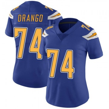 Women's Nike Los Angeles Chargers Spencer Drango Royal Color Rush Vapor Untouchable Jersey - Limited