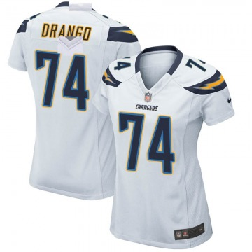 Women's Nike Los Angeles Chargers Spencer Drango White Jersey - Game