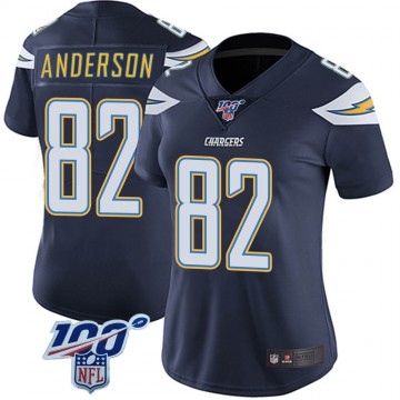 Women's Nike Los Angeles Chargers Stephen Anderson Navy 100th Vapor Jersey - Limited