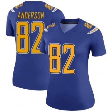 Women's Nike Los Angeles Chargers Stephen Anderson Royal Color Rush Jersey - Legend