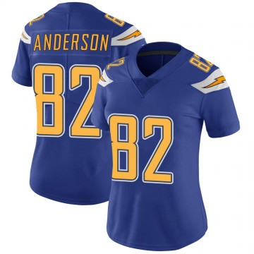 Women's Nike Los Angeles Chargers Stephen Anderson Royal Color Rush Vapor Untouchable Jersey - Limited