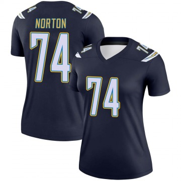 Women's Nike Los Angeles Chargers Storm Norton Navy Jersey - Legend