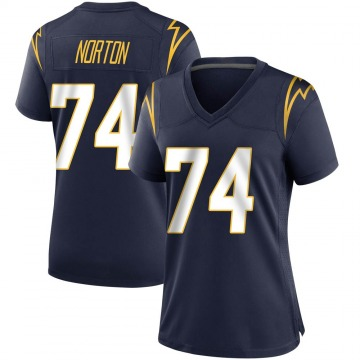 Women's Nike Los Angeles Chargers Storm Norton Navy Team Color Jersey - Game