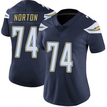 Women's Nike Los Angeles Chargers Storm Norton Navy Team Color Vapor Untouchable Jersey - Limited