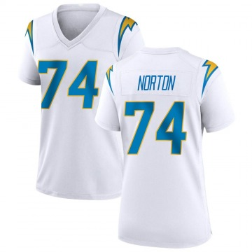 Women's Nike Los Angeles Chargers Storm Norton White Jersey - Game