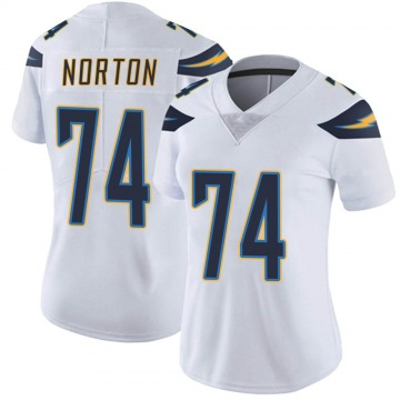 Women's Nike Los Angeles Chargers Storm Norton White Vapor Untouchable Jersey - Limited