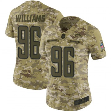 Women's Nike Los Angeles Chargers Sylvester Williams Camo 2018 Salute to Service Jersey - Limited