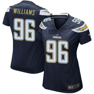 Women's Nike Los Angeles Chargers Sylvester Williams Navy Team Color Jersey - Game