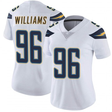 Women's Nike Los Angeles Chargers Sylvester Williams White Vapor Untouchable Jersey - Limited