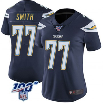Women's Nike Los Angeles Chargers T.J. Smith Navy 100th Vapor Jersey - Limited