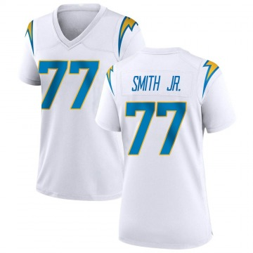 Women's Nike Los Angeles Chargers T.J. Smith White Jersey - Game