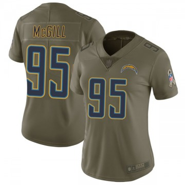 Women's Nike Los Angeles Chargers T.Y. McGill Green 2017 Salute to Service Jersey - Limited