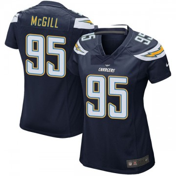 Women's Nike Los Angeles Chargers T.Y. McGill Navy Team Color Jersey - Game