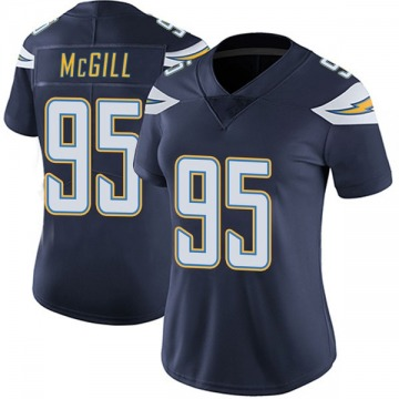 Women's Nike Los Angeles Chargers T.Y. McGill Navy Team Color Vapor Untouchable Jersey - Limited