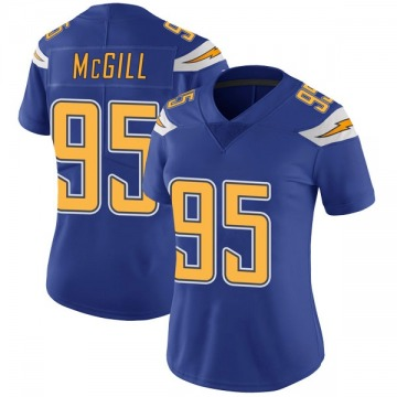 Women's Nike Los Angeles Chargers T.Y. McGill Royal Color Rush Vapor Untouchable Jersey - Limited