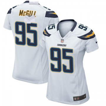 Women's Nike Los Angeles Chargers T.Y. McGill White Jersey - Game