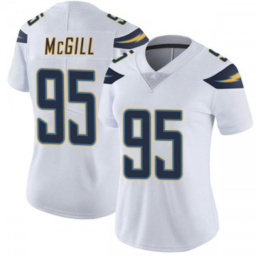 Women's Nike Los Angeles Chargers T.Y. McGill White Vapor Untouchable Jersey - Limited