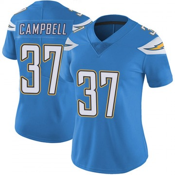 Women's Nike Los Angeles Chargers Tevaughn Campbell Blue Powder Vapor Untouchable Alternate Jersey - Limited