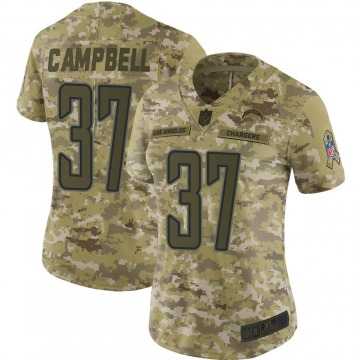 Women's Nike Los Angeles Chargers Tevaughn Campbell Camo 2018 Salute to Service Jersey - Limited