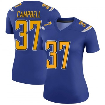 Women's Nike Los Angeles Chargers Tevaughn Campbell Royal Color Rush Jersey - Legend