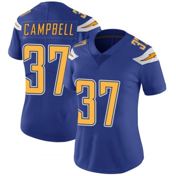 Women's Nike Los Angeles Chargers Tevaughn Campbell Royal Color Rush Vapor Untouchable Jersey - Limited