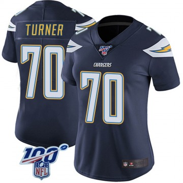 Women's Nike Los Angeles Chargers Trai Turner Navy 100th Vapor Jersey - Limited